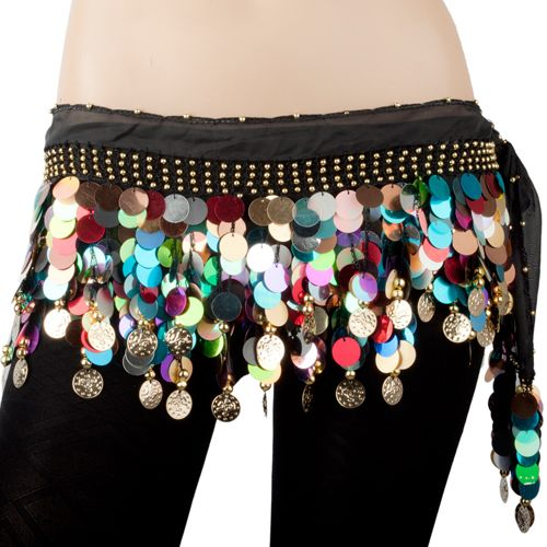 BellyLady Belly Dance Hip Scarf Skirt Wrap With Paillettes Christmas Gift Idea