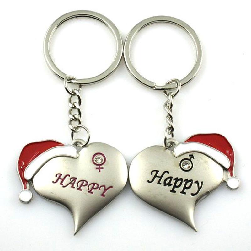 c7a64a593c Opentip.com: Aspire Christmas Hat Heart Couple Keychain Keyring ...