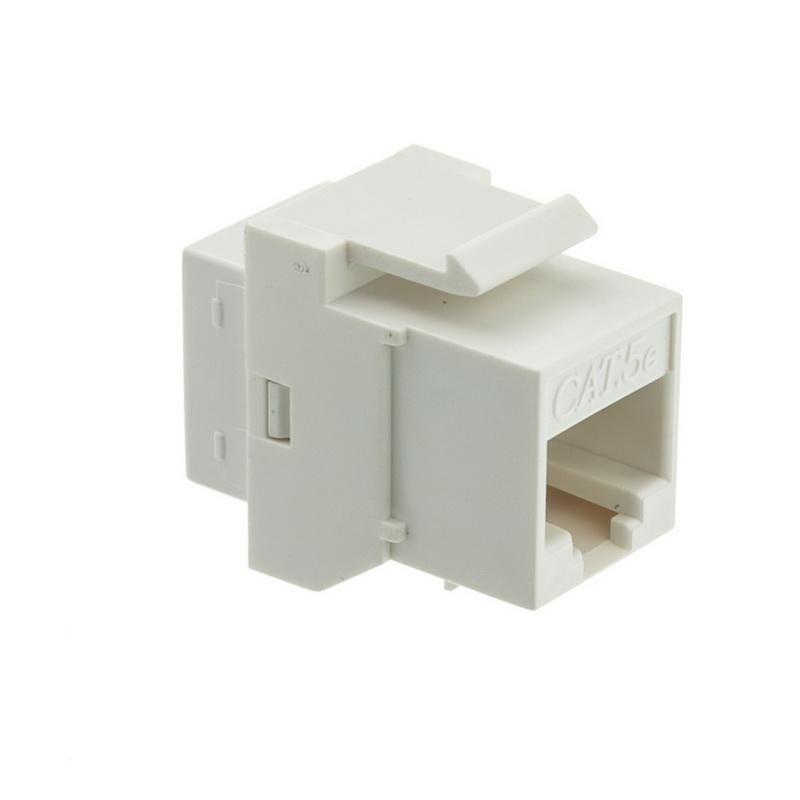 CableWholesale 310-220WH Cat5e Keystone Inline Coupler, White, RJ45 Female