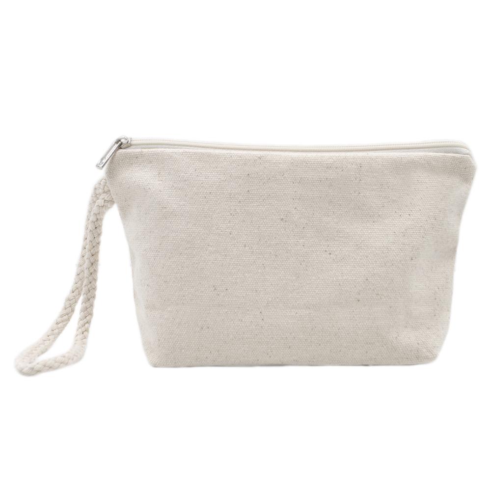 Aspire 60 Pack 100 Cotton Canvas Makeup Pouches Diy Zipper Bags 7 1 2 X 4