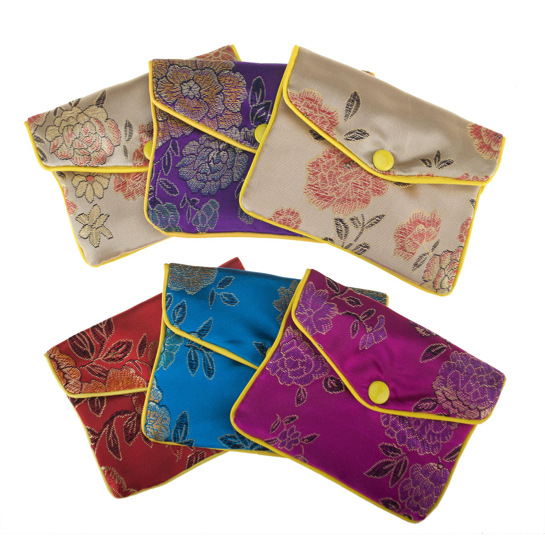 c4f6307dabea Aspire 24 Pieces Jewelry Pouch Zipper Purse Gift Bags Snap Closure 4 x 3  Inch