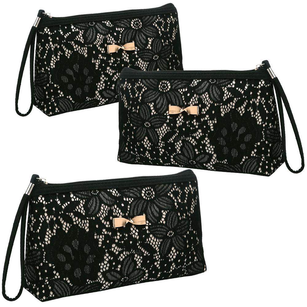 Opentip.com: Aspire 3PCS Floral Lace Makeup Bags with Wristlet ...