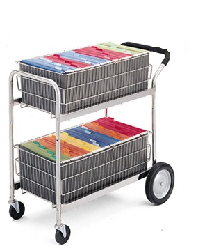 M101 Charnstrom Medium Wire Basket Cart with Cushion Grip