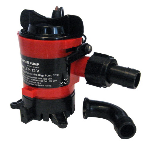 Opentip johnson pump 500 gph bilge pump 34 hose 12v dura ports publicscrutiny Choice Image