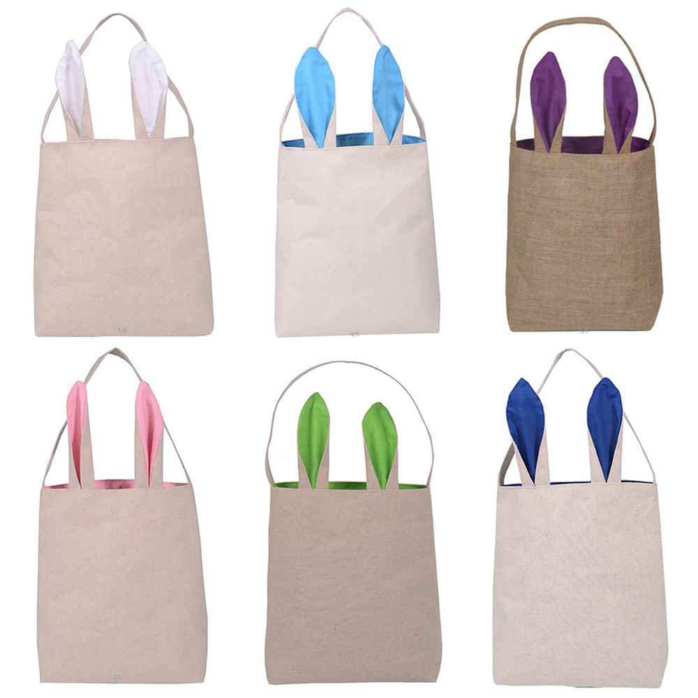 Functional Bags Shopping Bags Gift Storage Handbag Party Supplies Easter Bunny Rabbit Candy Egg Basket Home Decor Flower Toy Shopping Bag
