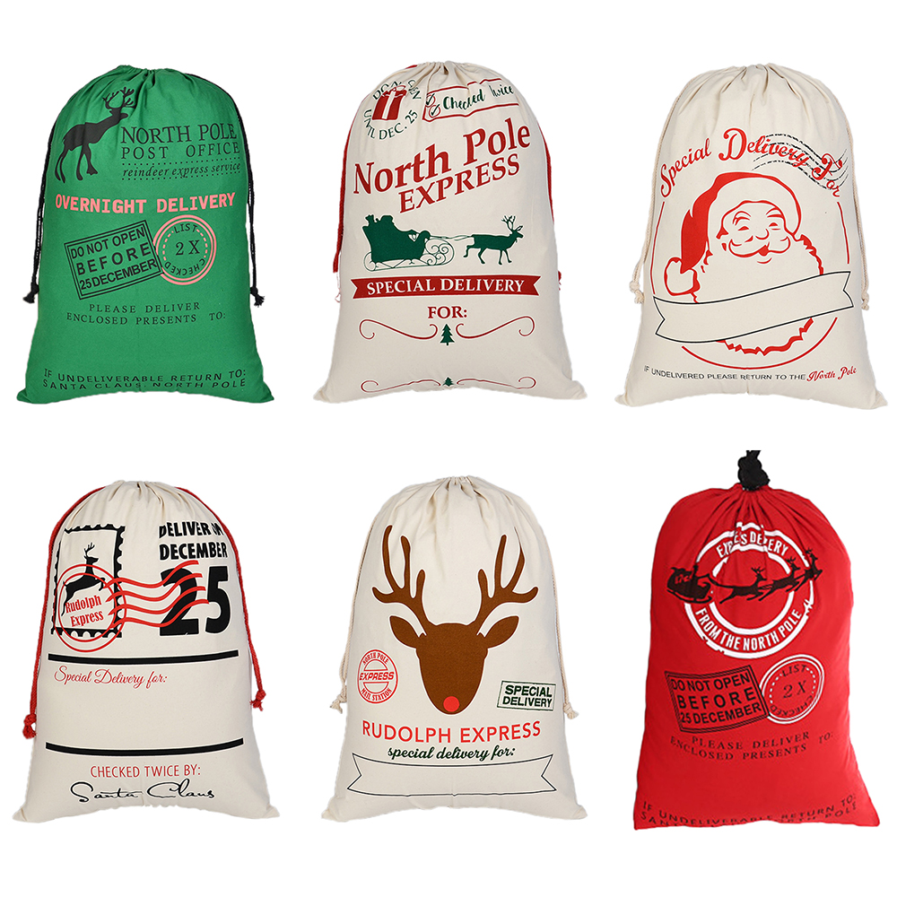 Opentip.com: Aspire Wholesale Christmas Giant Canvas Drawstring Bags ...