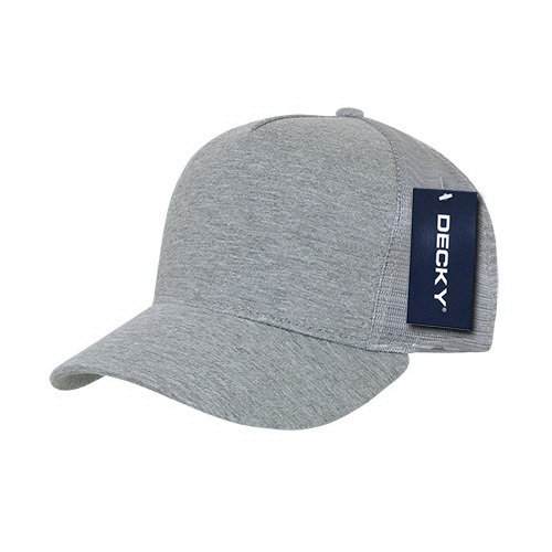 42c31cf6e7f Opentip.com  Decky 1050 5 Panel Heather Jersey Trucker Cap