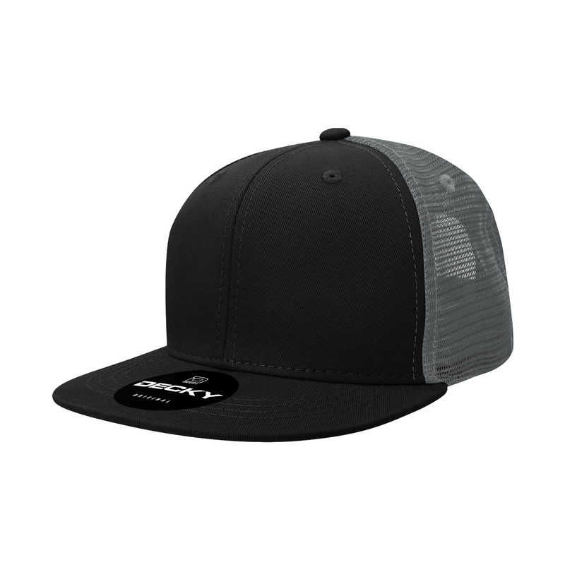 Opentip.com  Decky 1052 6 Panel FLAT Bill Trucker Caps 1d3227f82c10
