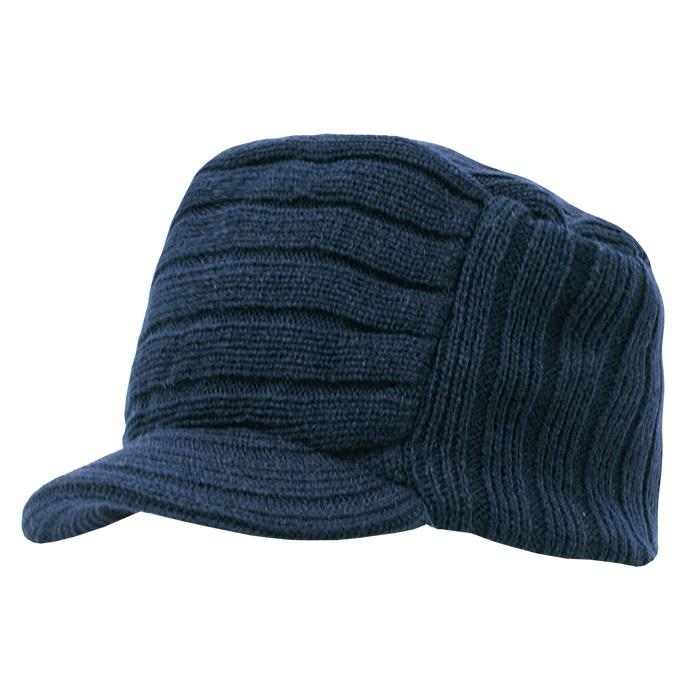 9b56395a004 Opentip.com  Decky 615 Knitted Flat Top Cap w  Visor