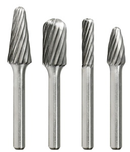 3000-0115 SC-5 CYLINDRICAL BALL NOSE DOUBLE-CUT CARBIDE BURRS