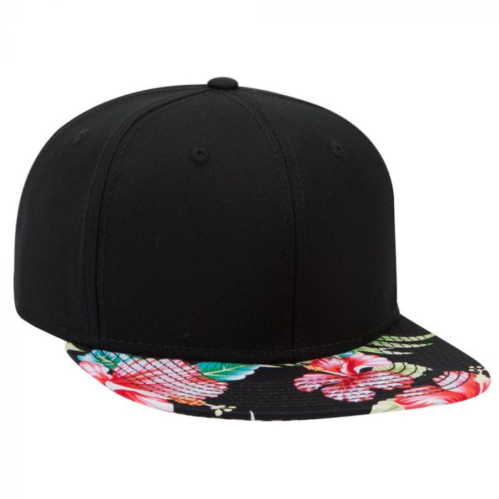 Opentip.com  Superior Cotton Twill w  Hawaiian pattern Square Flat Visor  Snapback