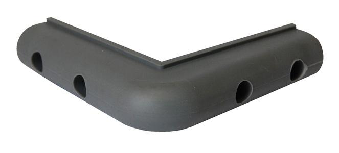 "Vestil 4/"" x 4/"" Corner and Surface PVC Bumper Guard"