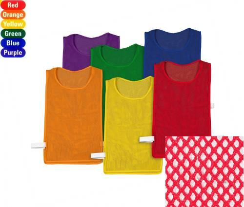 """Everrich EVC-0078 Pinnies Pack - set of 6 colors, mesh, 20"""" L * 12"""" W"""