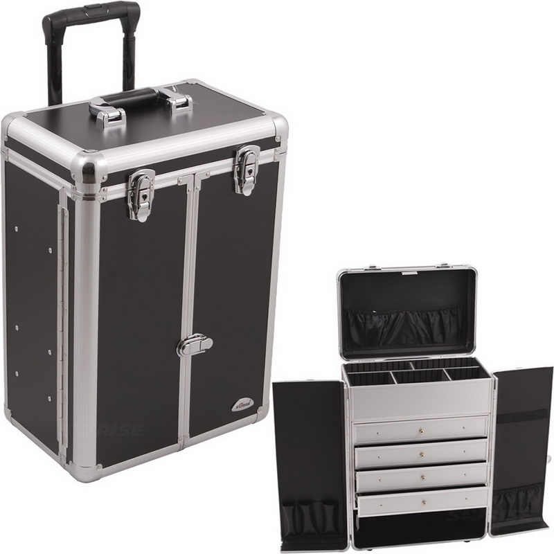 7101135d34 Opentip.com  Sunrise C6008PPBK Black Smooth Wheel Case W Drawer - C6008