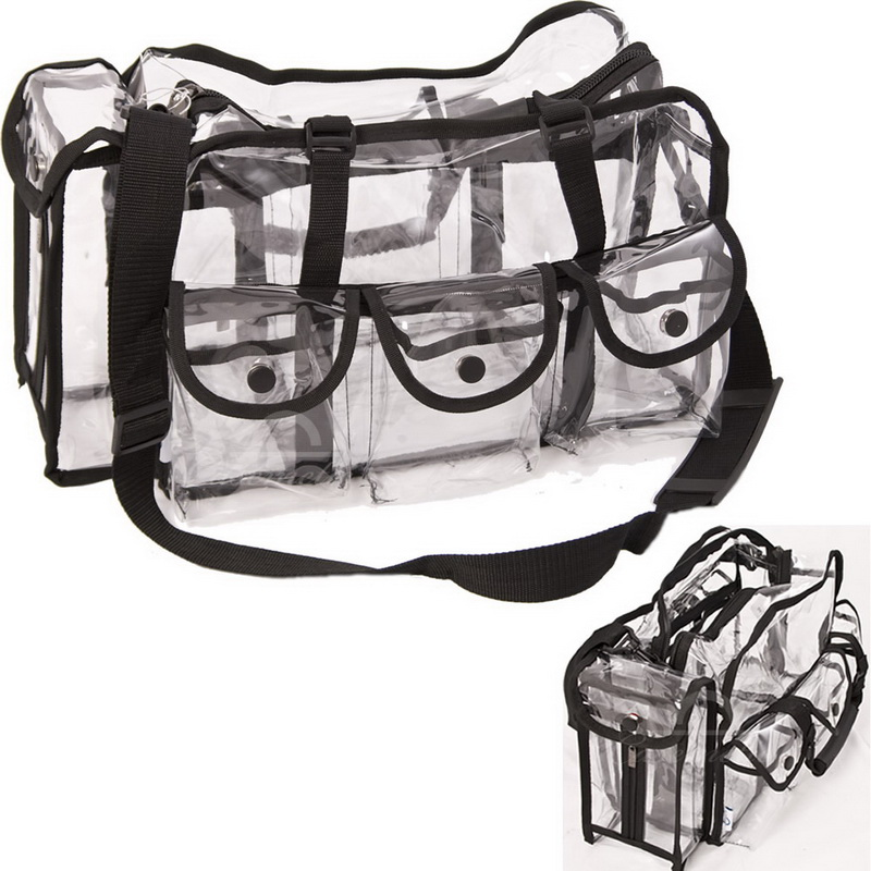 Opentip.com: Casemetic PC01BK Black Large Makeup Clear Bag - Pc01