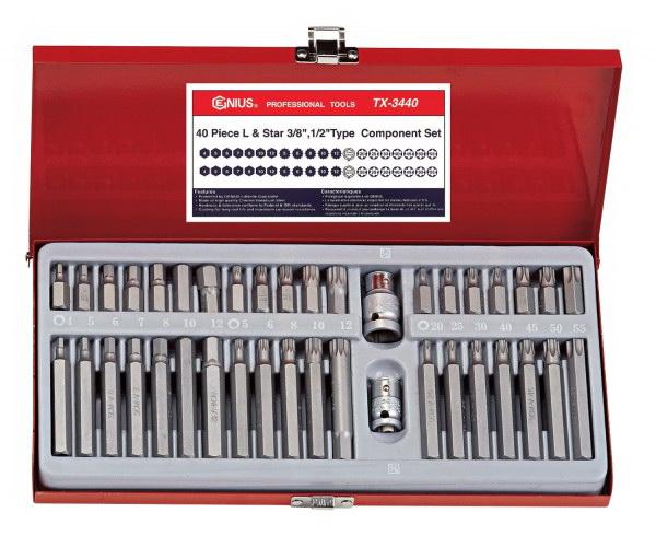"SAE Hex Impact Bit Socket Set Genius Tools 10PC 1//2/"" Dr CR-Mo - TH-410S"