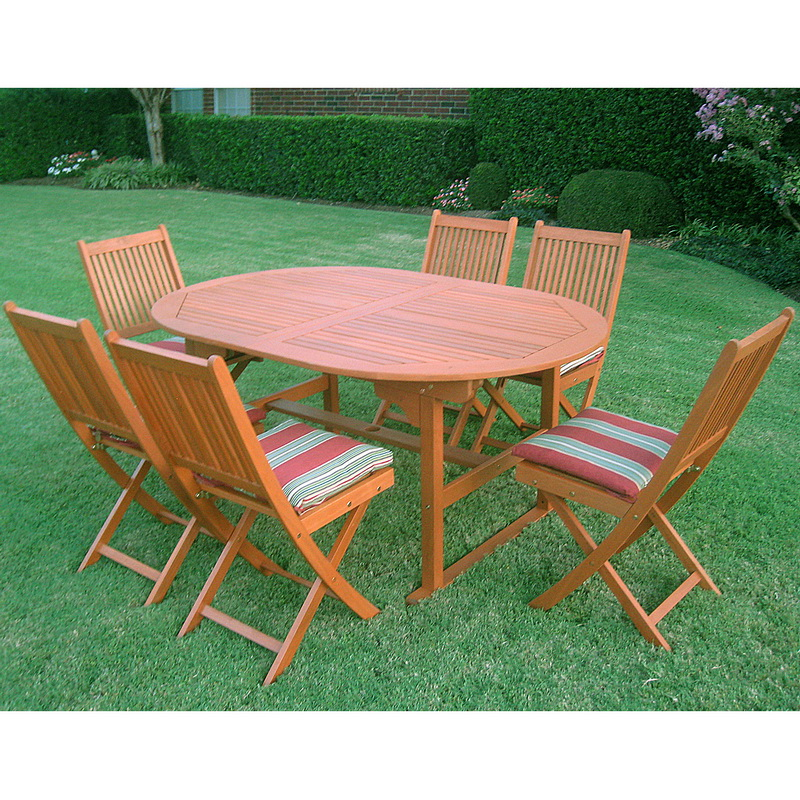 Opentip.com: International Caravan OVE 017 VN 128 6CH Royal Tahiti Palma  Seven Piece Patio Group, Stain