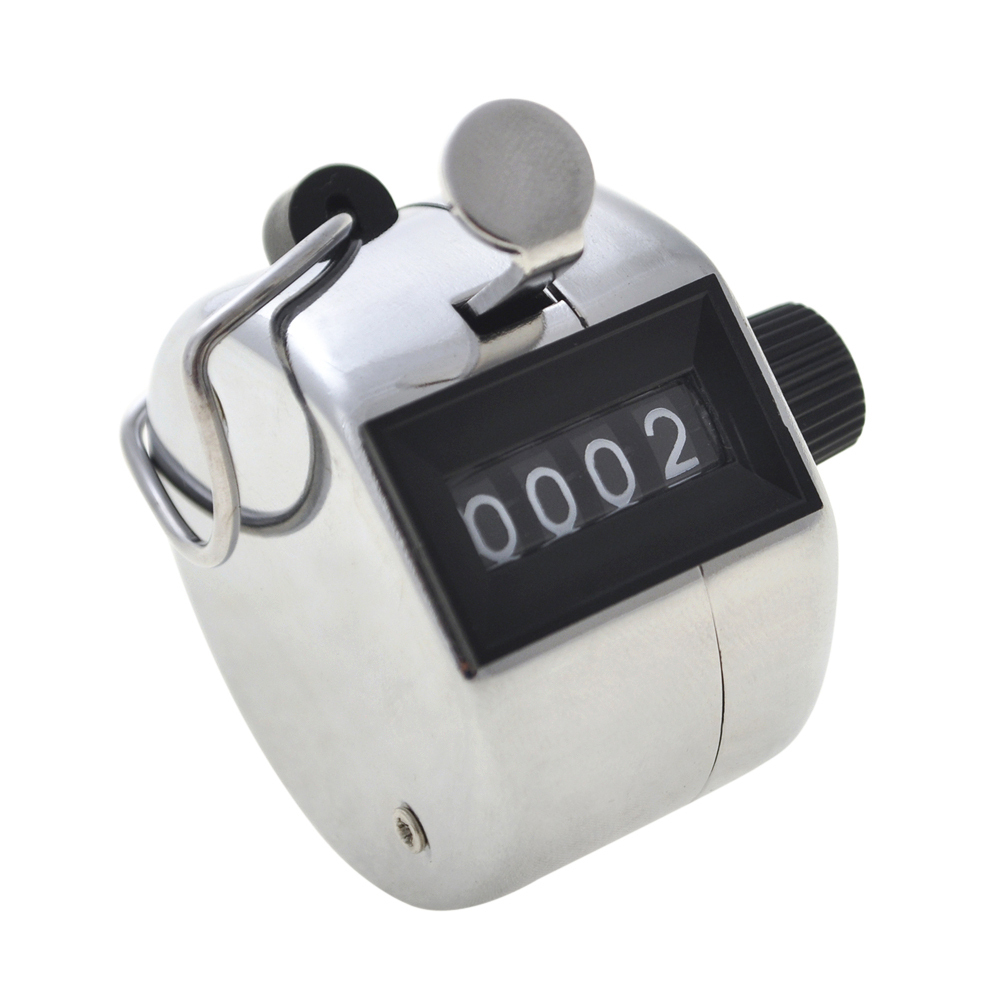 Mechanical Manual Palm Clicker Click 4 Digit Hand Tally Counter Count White MT