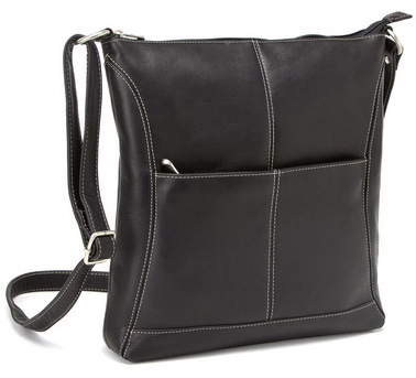 5287deedb647 Opentip.com  Le Donne Leather LD-7052 Easy Slip Crossbody Shoulder Bag