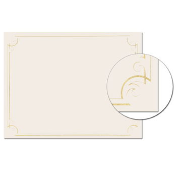 Great Papers 963006 Gold Foil Braided Certificate 8.5x 11 15 Count