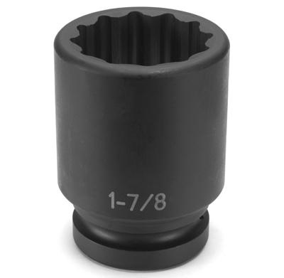 "12 Point Socket Grey Pneumatic 2117MD 1//2/"" Drive x 17mm Deep"