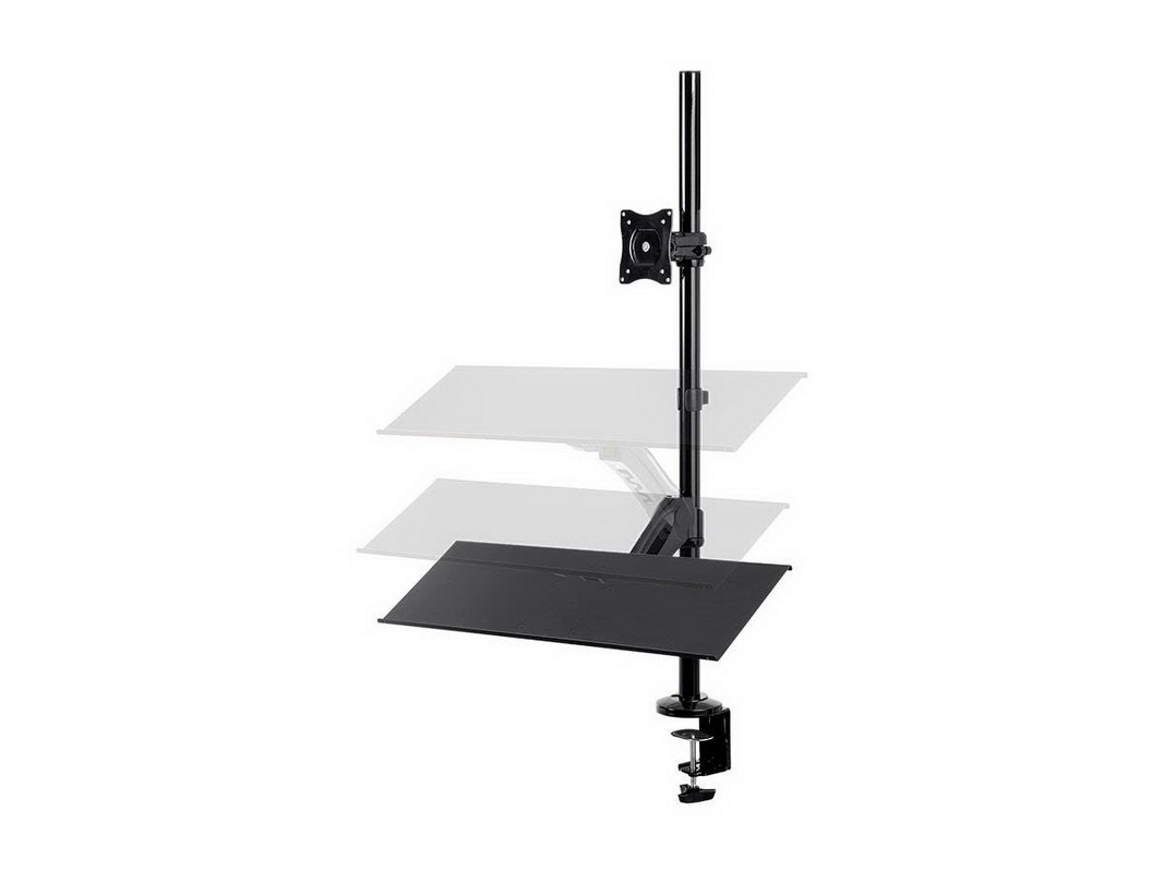 Monoprice 15717 Sit Stand Monitor and Keyboard Workstation