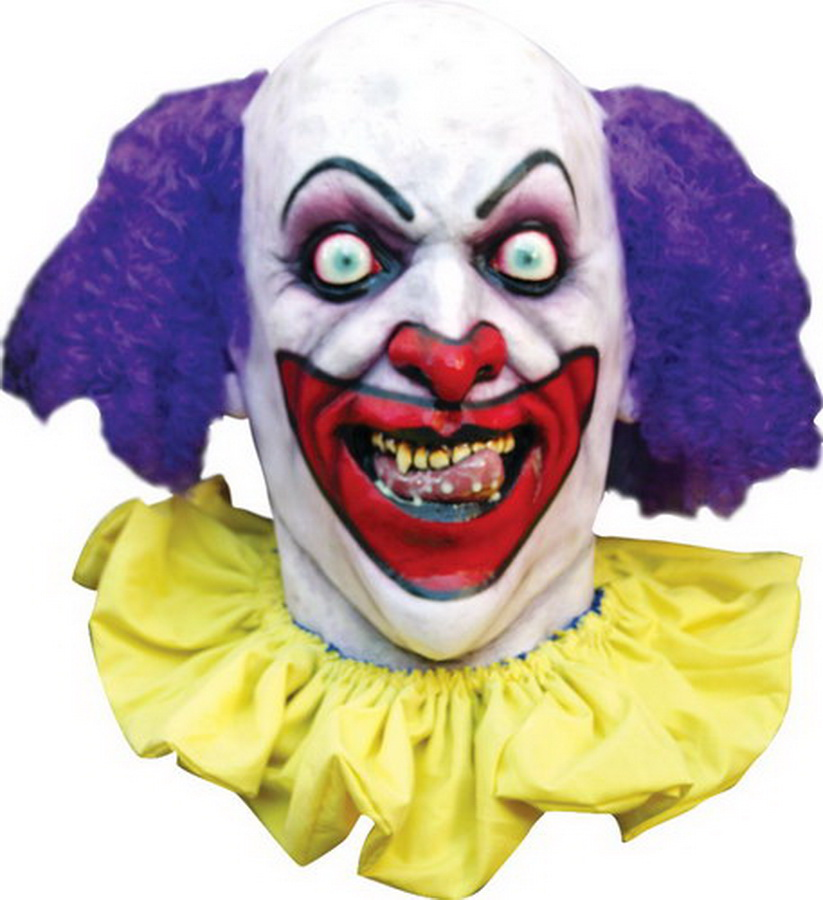 Morris Costumes Latex Halloween Rico The Clown Horror Latex Mask TB26220