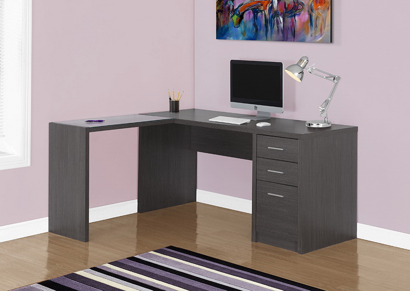 Opentip Com Monarch Specialties I 7139 Computer Desk Grey Corner With Tempered Glass 60 X 55 30