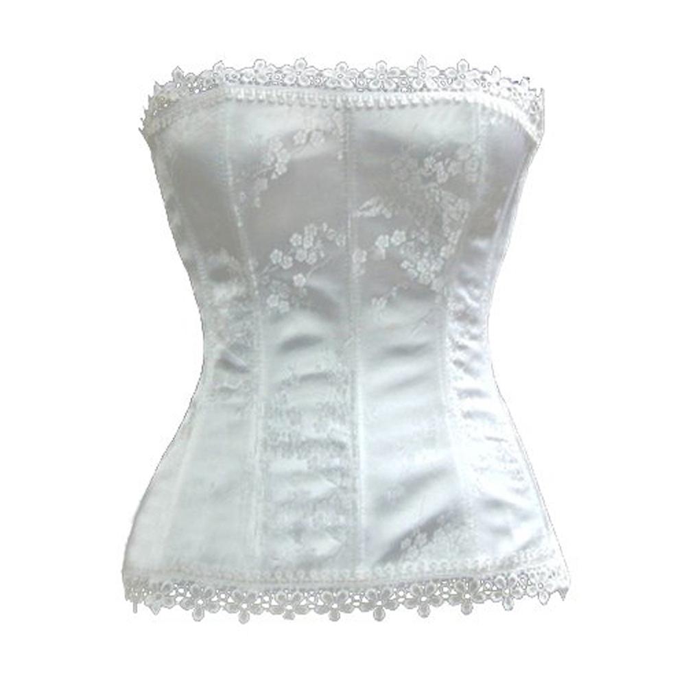 Muka Women Corset Top Ivory Bridal Lingerie Bustier Halloween Costume Top