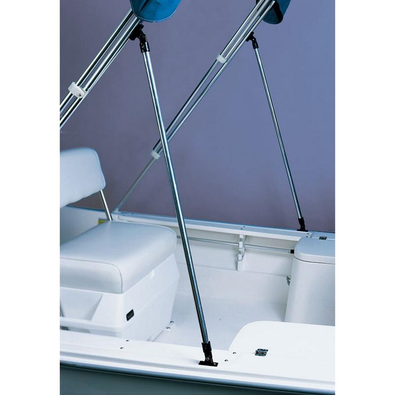 "ALUMINUM ROUND Boat Bimini Top SUPPORT POLES Brace Kit Fixed Length 40/"""