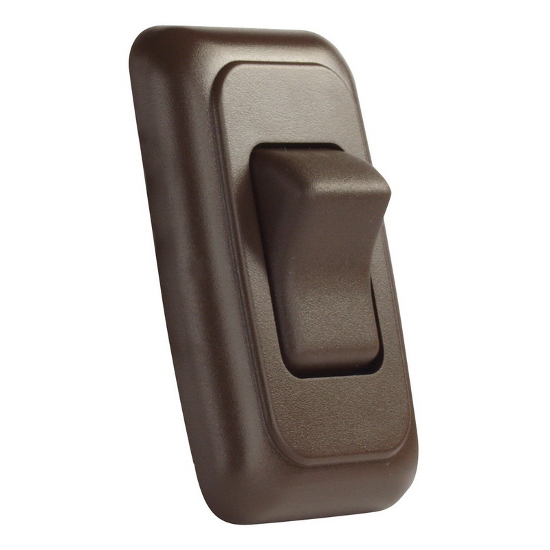 JR Products 12145 Brown Double SPST On-Off Switch with Bezel
