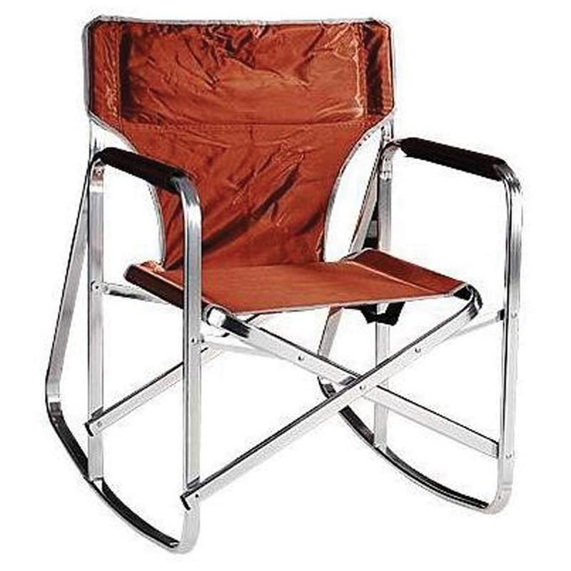 Opentip.com: Stylish Camping Folding Rocking Directoru0027s Chair   Brown,  SL1205 BROWN