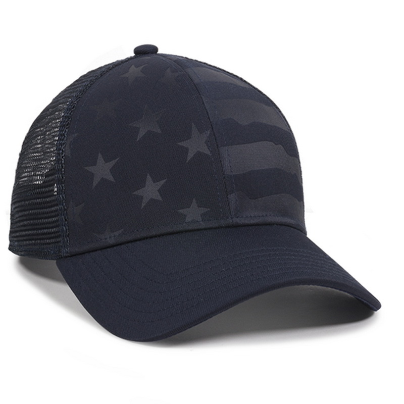 b2db7e3b753 Opentip.com  Outdoor Cap USA-750M Debossed Stars and Stripes Pattern ...