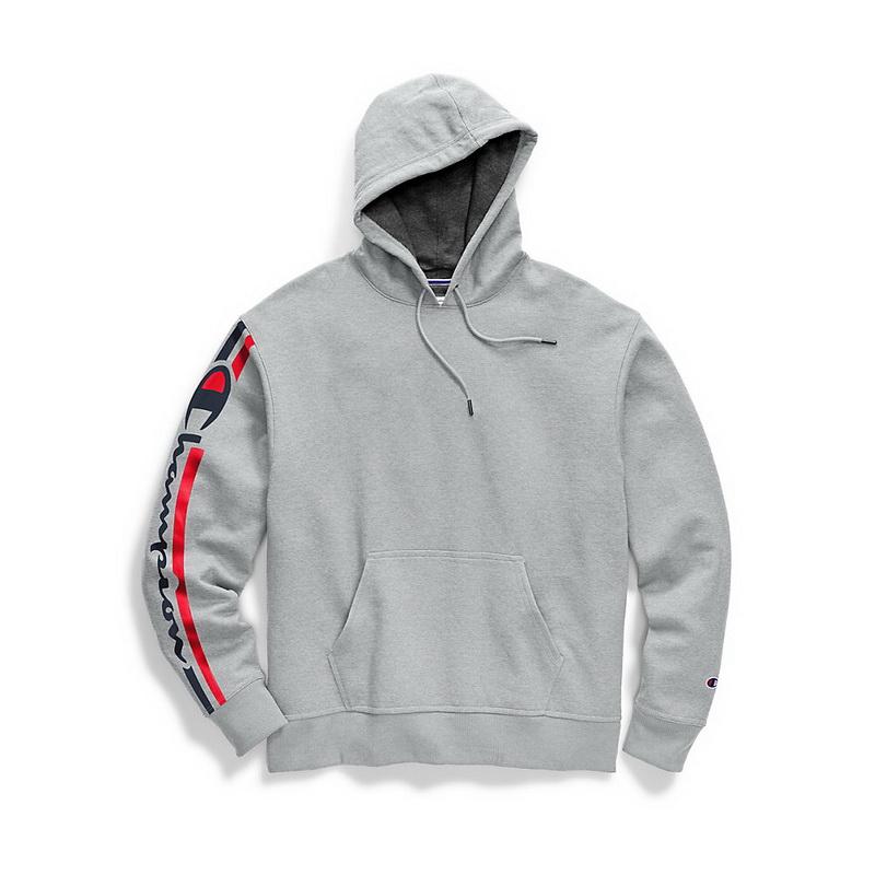 Champion Hoodie Sweatshirt Men/'s Heritage Heather YC Embroidered Script Logo New