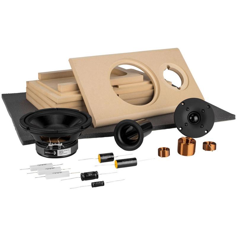 Parts Express Classix II MT Bookshelf Speaker Kit with Knock Down Cabinet