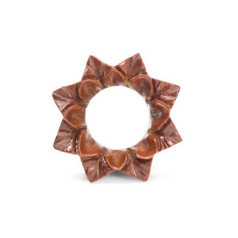 Organic Body Jewelry 6mm up to 51mm CROCODILE Wood Tunnel Price Per 1