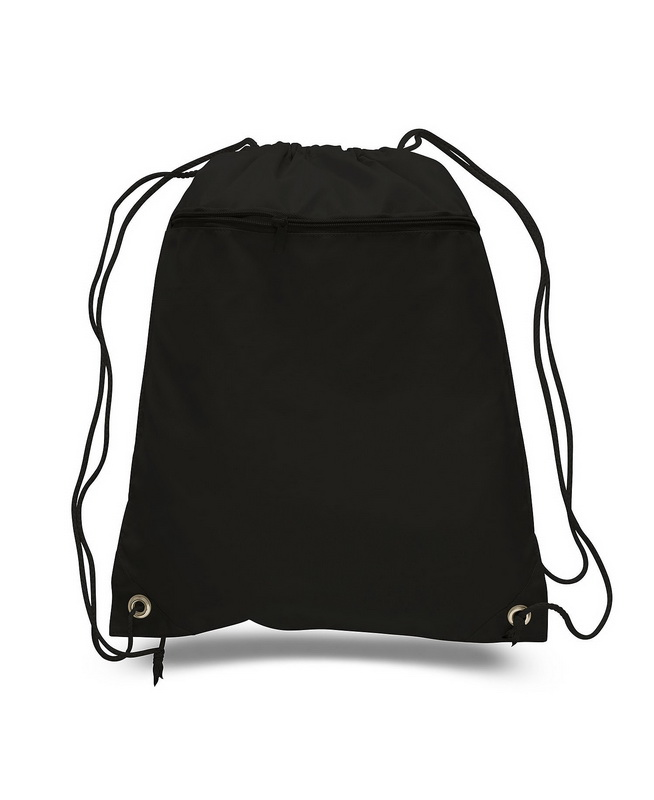 19eb98433f3f Q Tees Q135200 Cinch Up Polyester Backpack