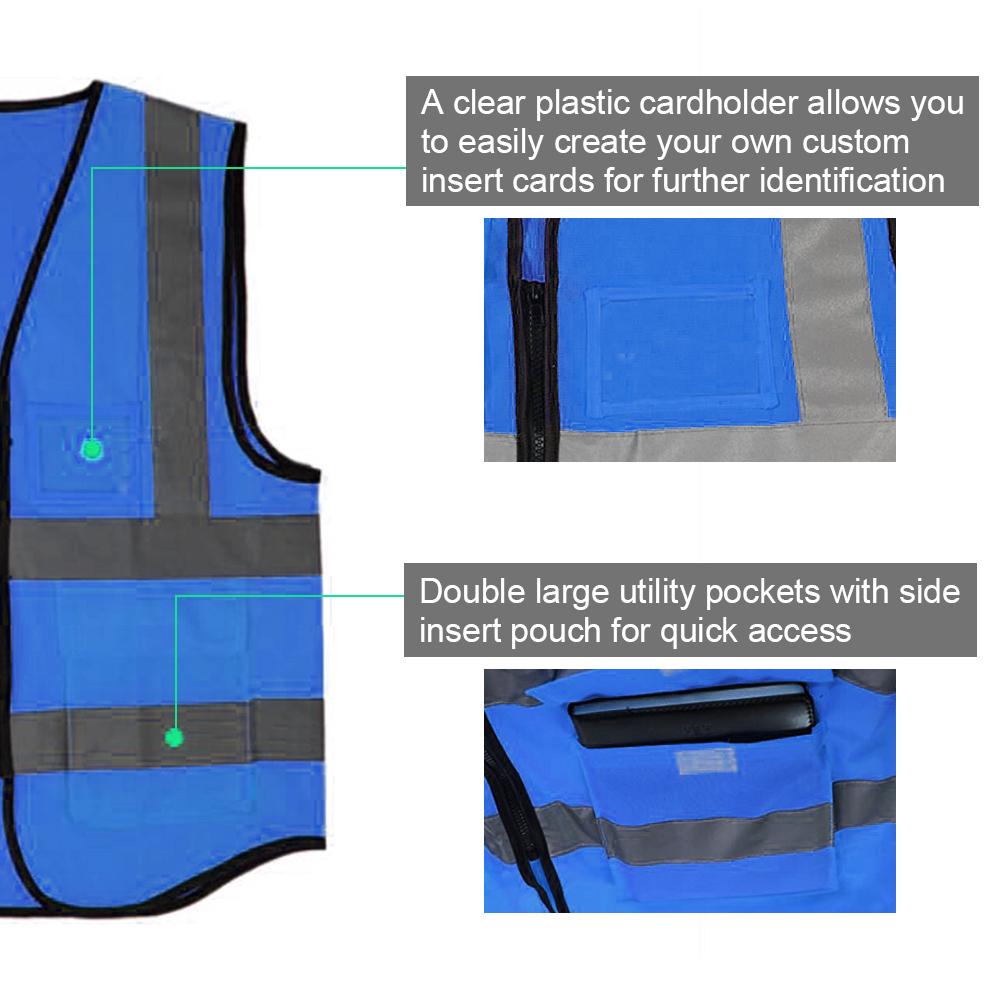 Opentip GOGO 5 Pocket Safety Vests - ID Card Holder