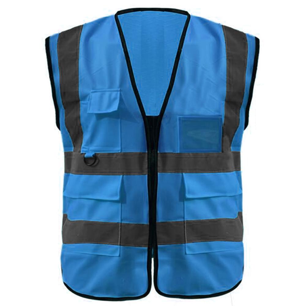 GOGO Multi Pockets High Visibility Safety Vest – Pack of 10