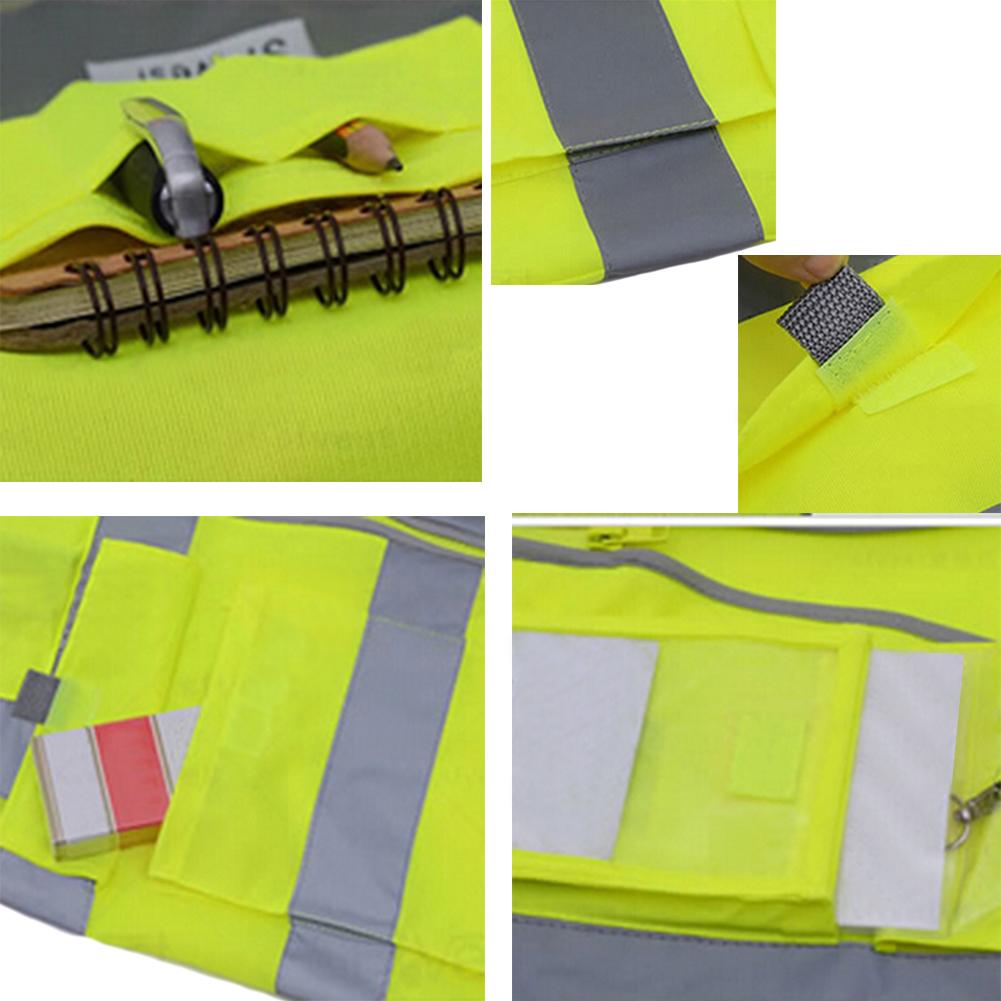 GOGO 9 Pocket Hi-Vis Safety Vest - Detail