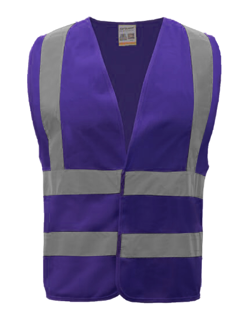 GOGO 10 Packs Industrial Safety Vest with Reflective Stripes