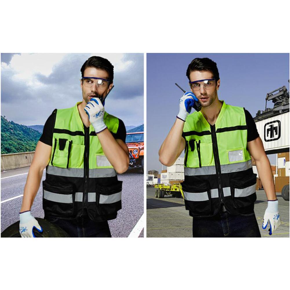 Construction Work Surveyor with Hi-vis Vest