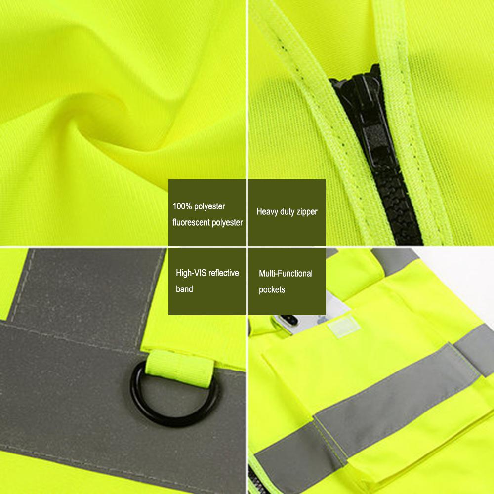 GOGO High Visibility Breathable Safety Vest Reflective Uniform Vest Details