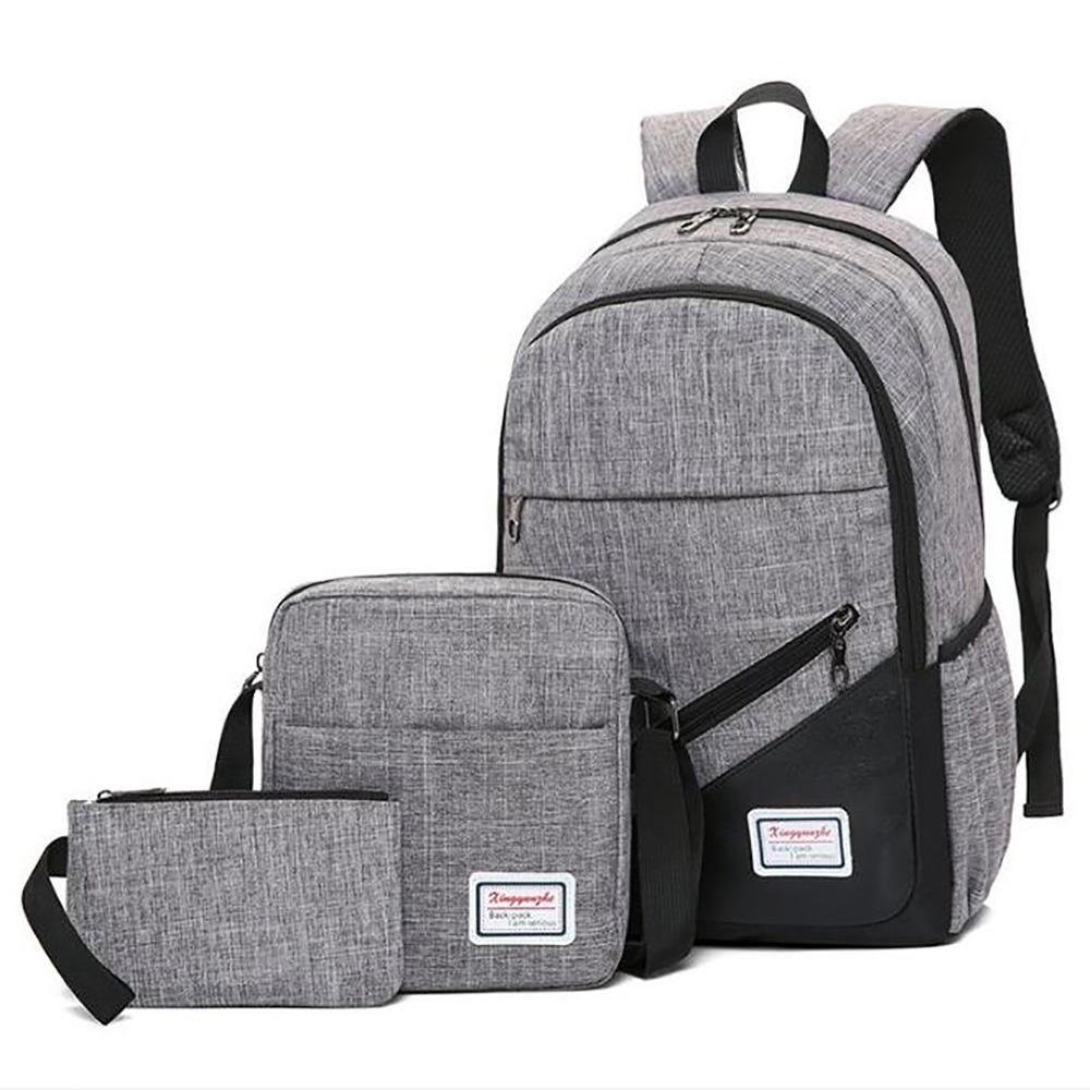 e6e7955953 Teens Backpack Set of 3 Pieces Canvas School Bag Bookbag Travel Rucksack  for Boys Girls