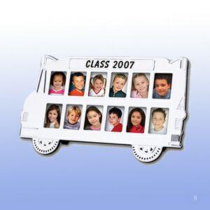 Custom School Bus Photo Frame (Screened)