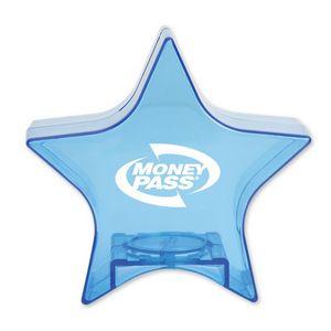 Custom Translucent Blue Star Bank