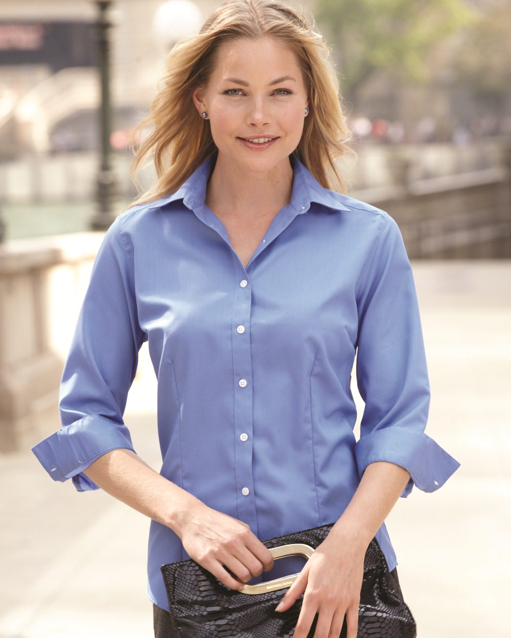 d26b05f6762 Opentip.com  Van Heusen Ladies  3 4 Sleeve Baby Twill Shirt