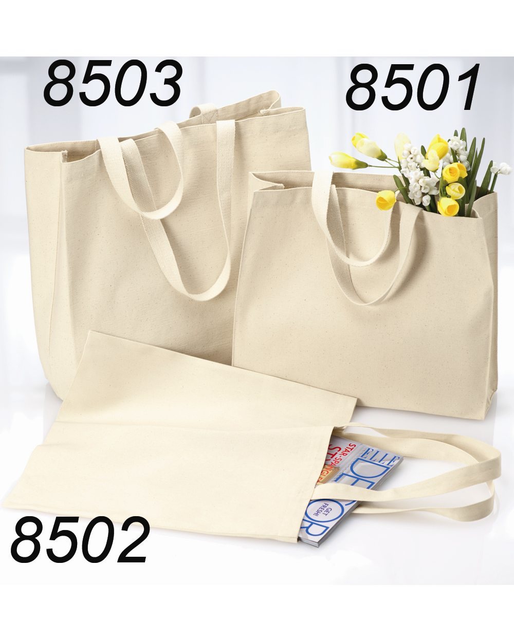 06345049fcf Opentip.com: Liberty Bags 8503 12 Ounce Cotton Canvas Tote, Price/each