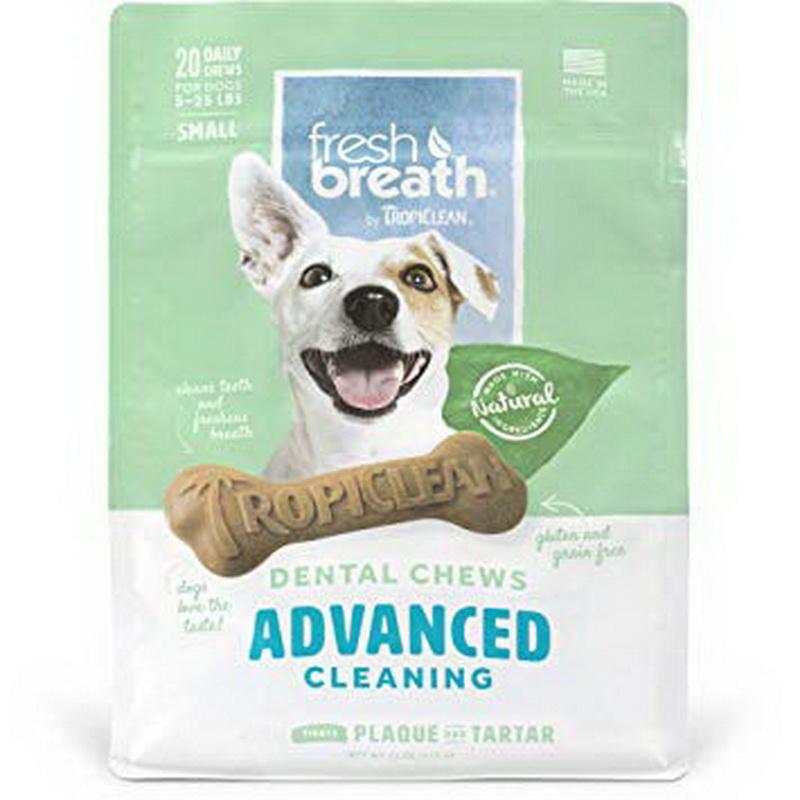 酷牌库|商品详情-Tropiclean FBACCW-SM小型犬用清洁牙齿咀嚼器,20Ct