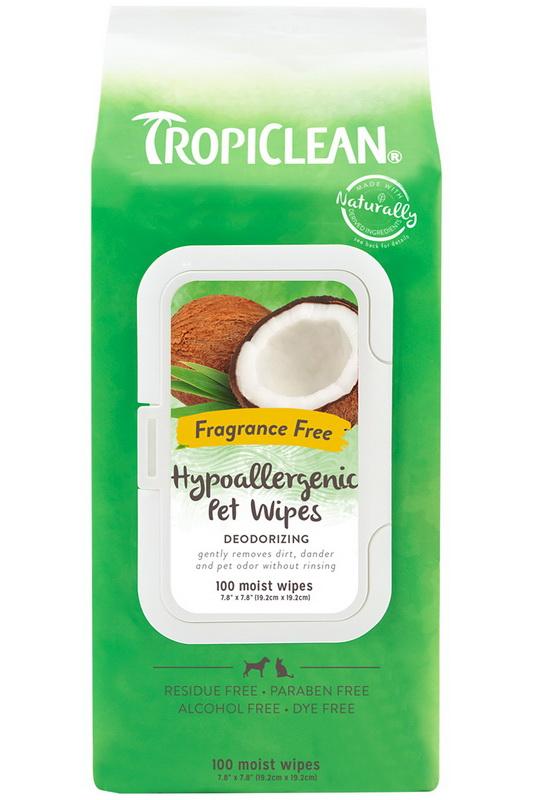 酷牌库|商品详情-Tropiclean TRHAWP100CT宠物防过敏湿巾